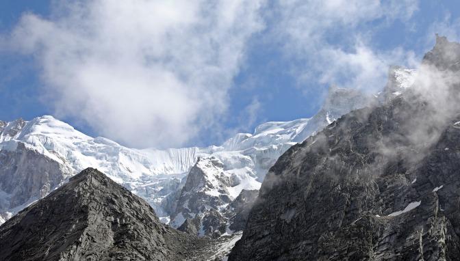 The Annapurna Range from Larkya La (Pass)