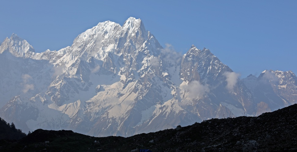 Phangi Peak on the Manaslu Circuit Trek