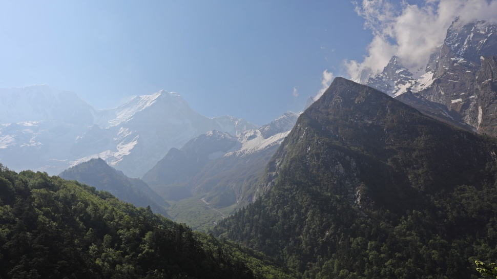 The Manaslu Range on the last day of the Circuit Trek