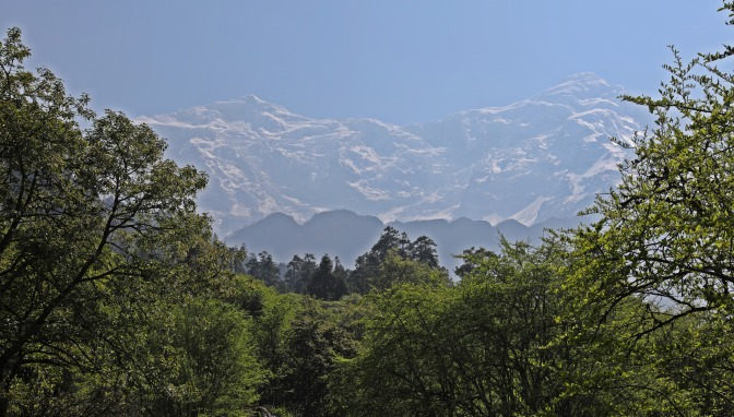 The Manaslu Range on the last day of the Circuit Trek