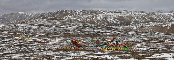 Prayer flags at Gyatchu La (Pass)