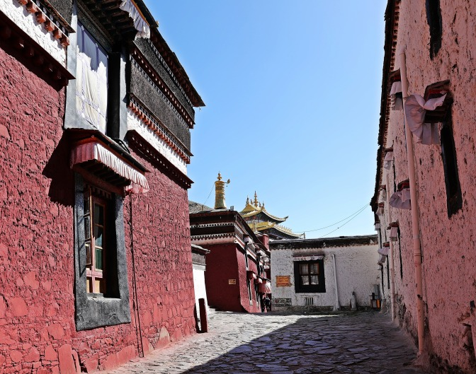 A shrine at Tashi Lhunpo Gompa