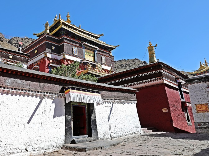 A shrine at Tashi Lhunpo Gompa