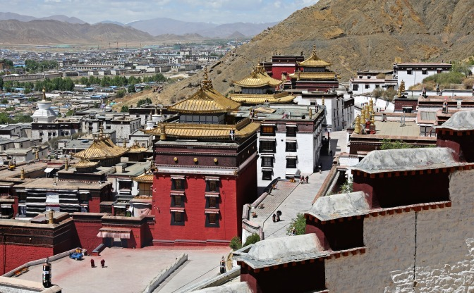 View of Tashi Lhunpo Gompa from the Kora