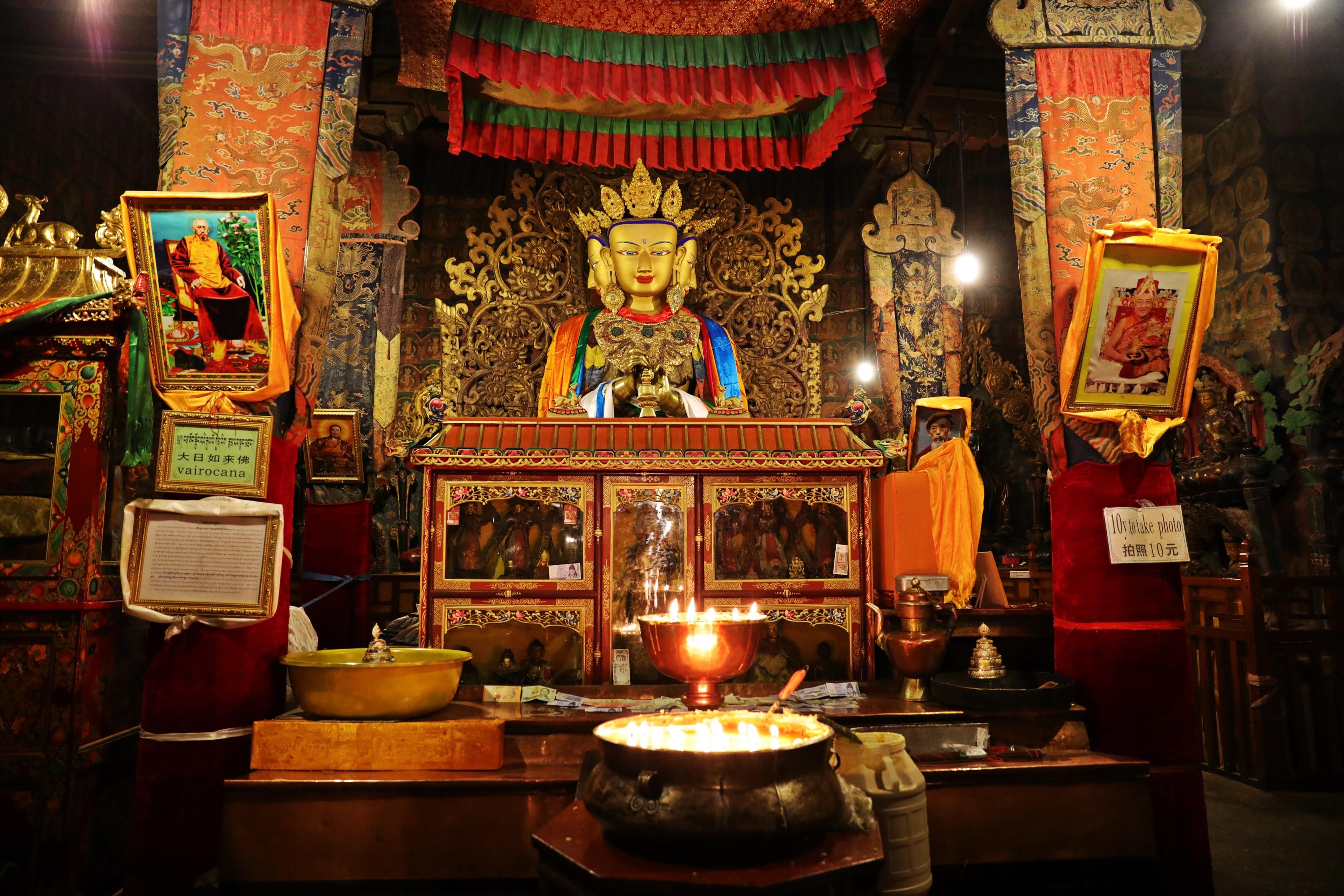 Inside Phalkor Gompa