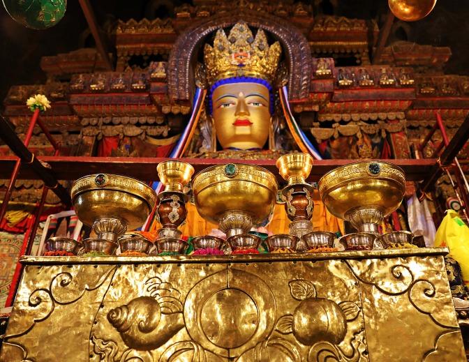 Inside Phalkor (Gompa) Monastery