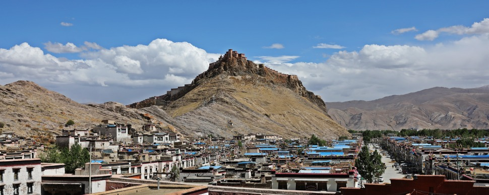 View of Gyantse from Kumbum Chorten