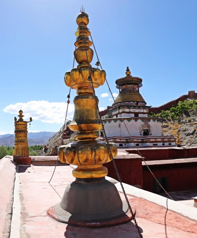 Kumbum Chorten from Phalkor Gompa
