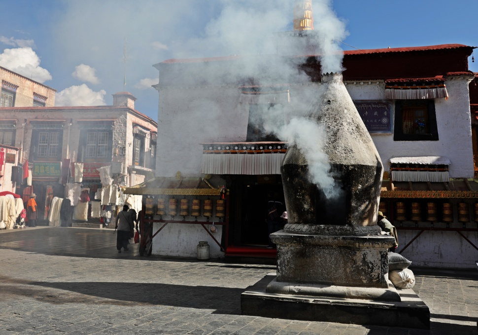 Incense Oven in Barkhor Bazaar, Lhasa