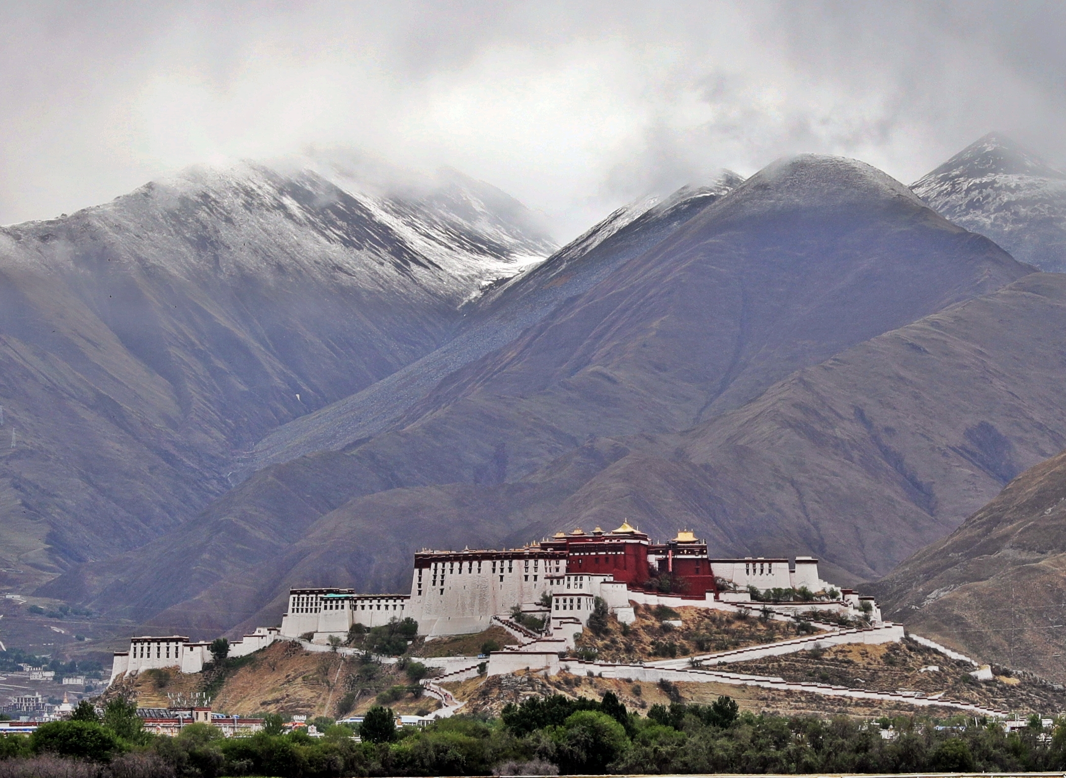 View of Potala Palace from Sera Gompa