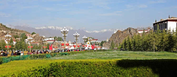 Lhasa from in front of Potala Palace