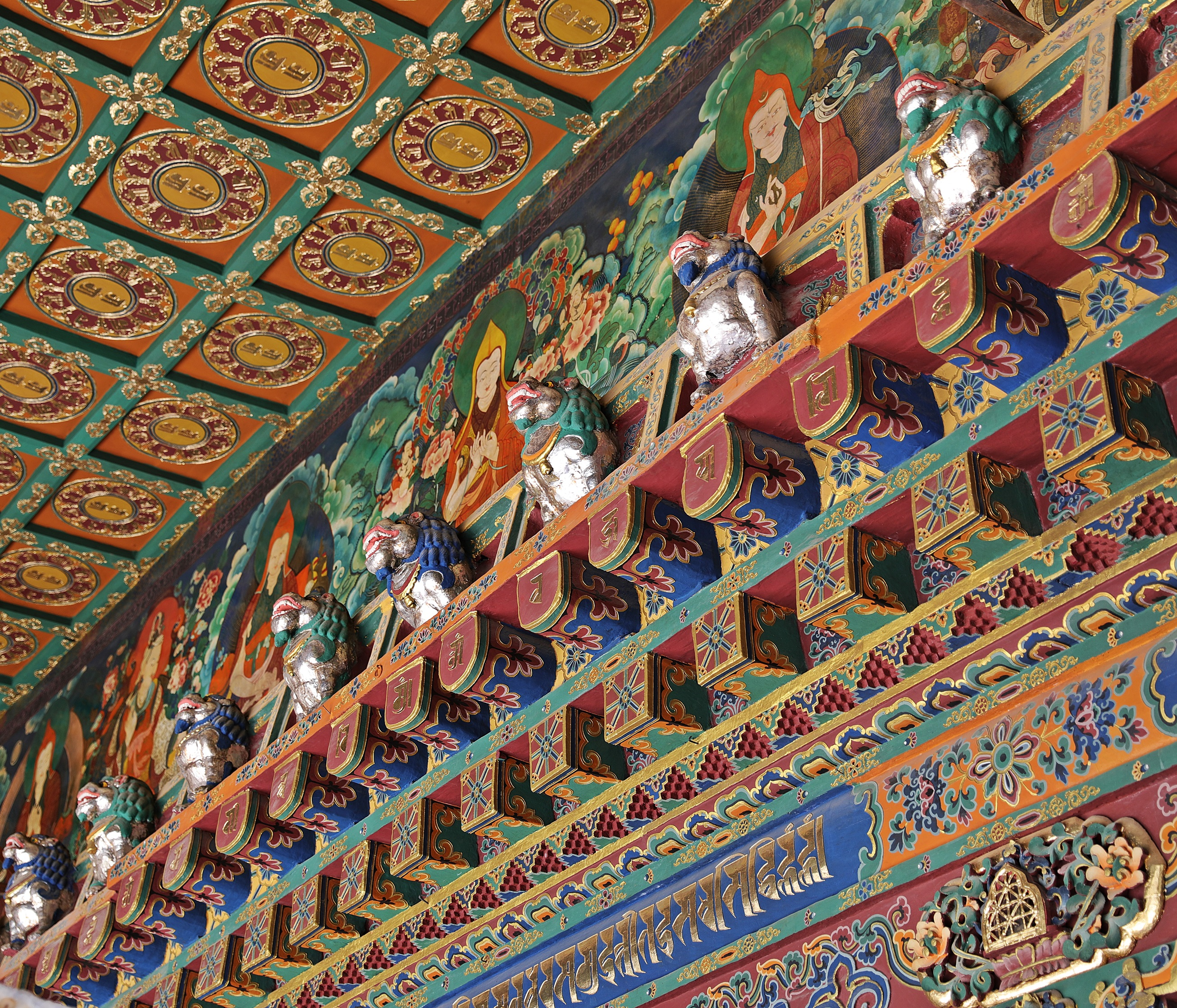 Ceiling in Jokhang Temple