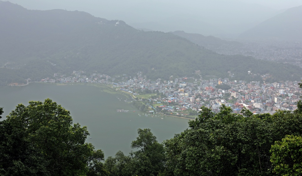 View of Pokhara from the World Peace Pagoda