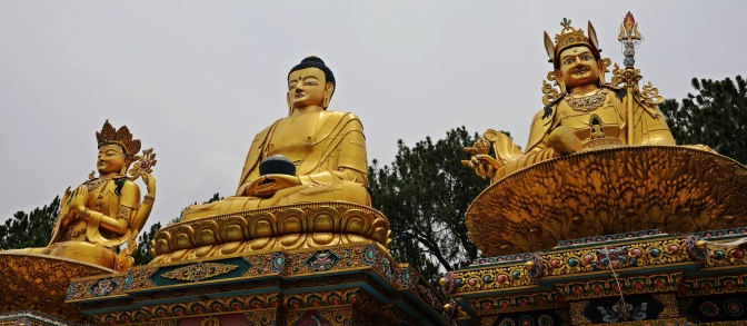 Statues on the Swayambhunath kora