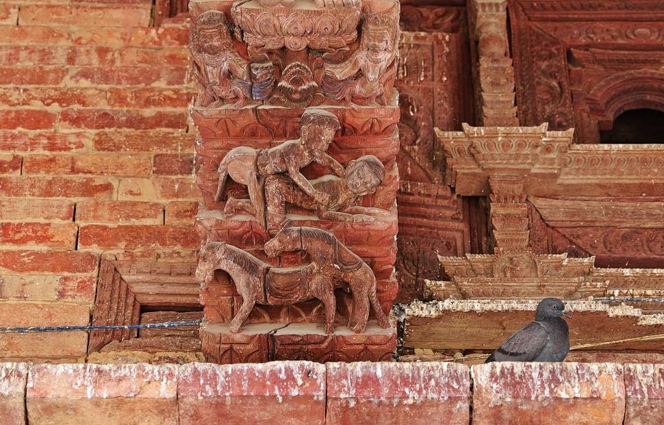 Erotic carvings, Jaganath Temple, Kathmandu