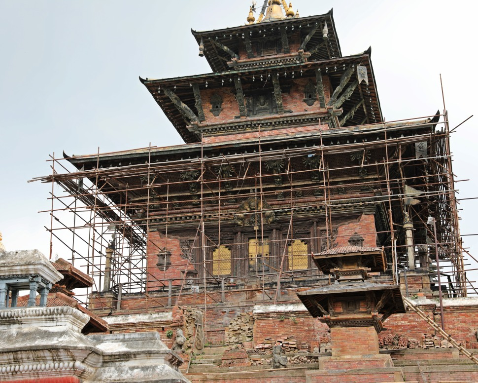Under repair, Durbar Square, Kathmandu