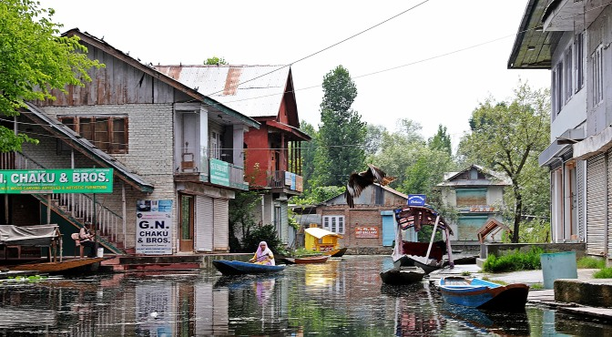 Shops on Dal Lake