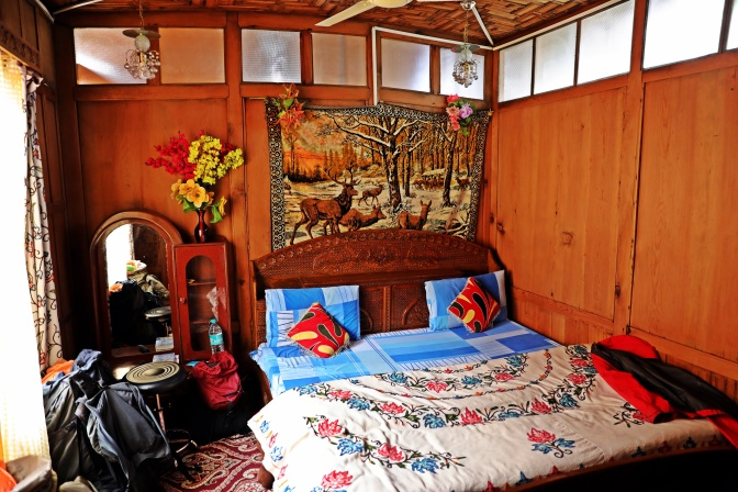 Bedroom in a houseboat
