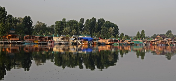 Houseboats on Dal Lake, Sinagar
