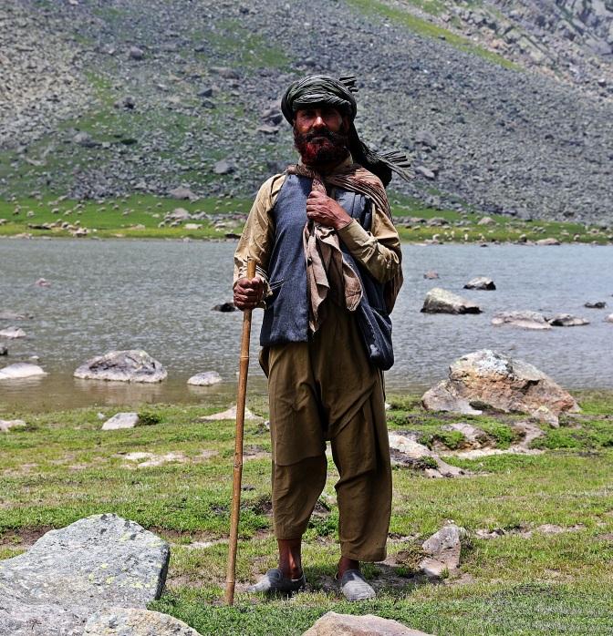 Kashmiri shepherd on the Great Lakes Trek