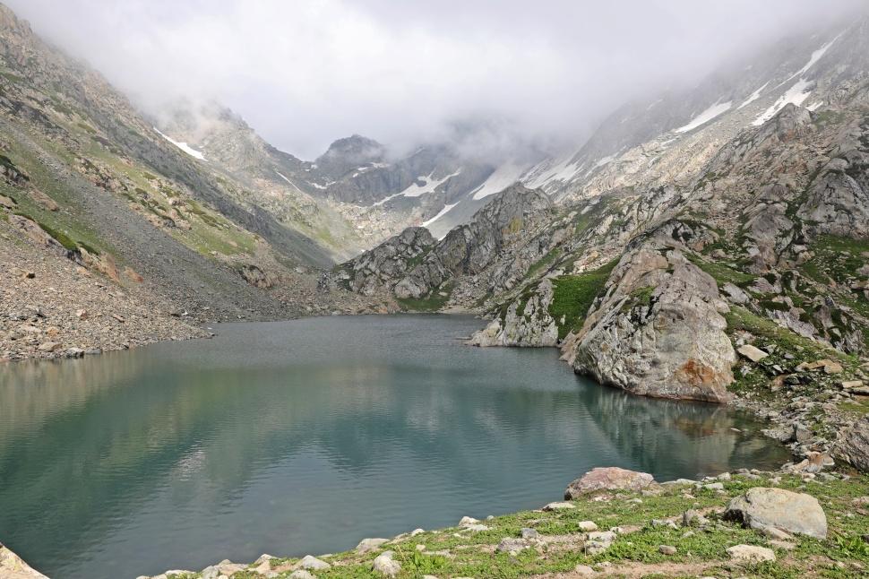 One of the Satsar Lakes, Great Lakes Trek