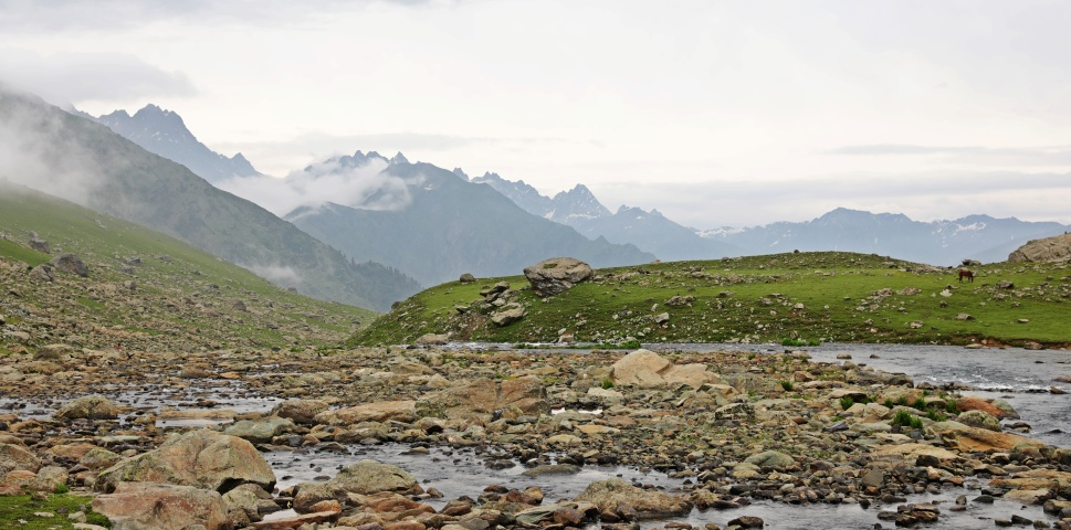 View from Nadhkol Lake, Great Lakes Trek