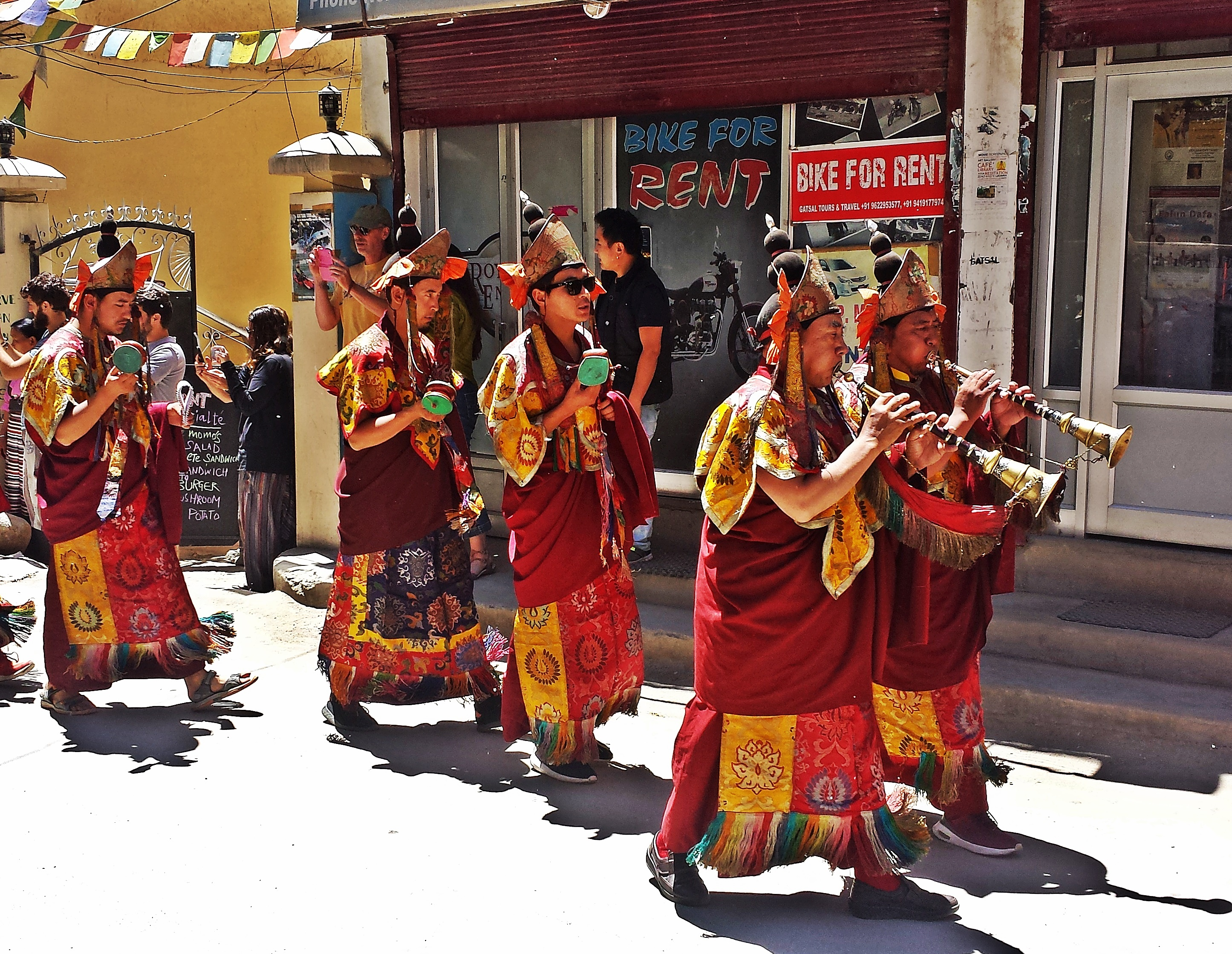 Funeral procession in Leh