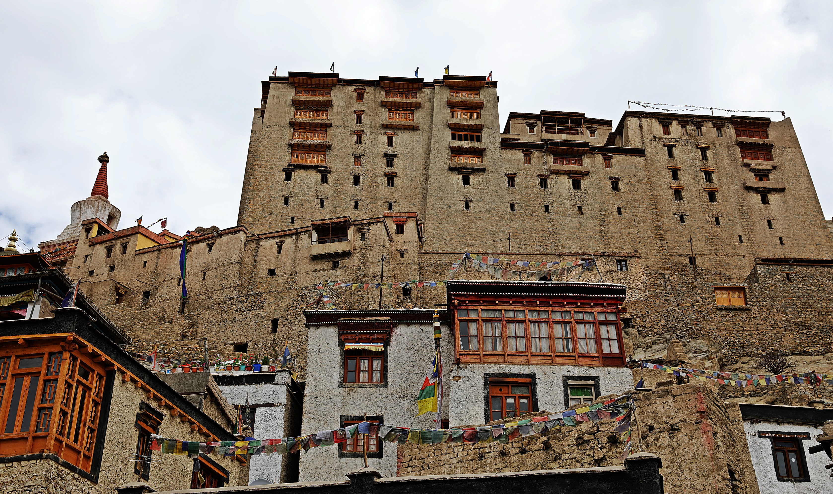Leh Palace seen from Old Town