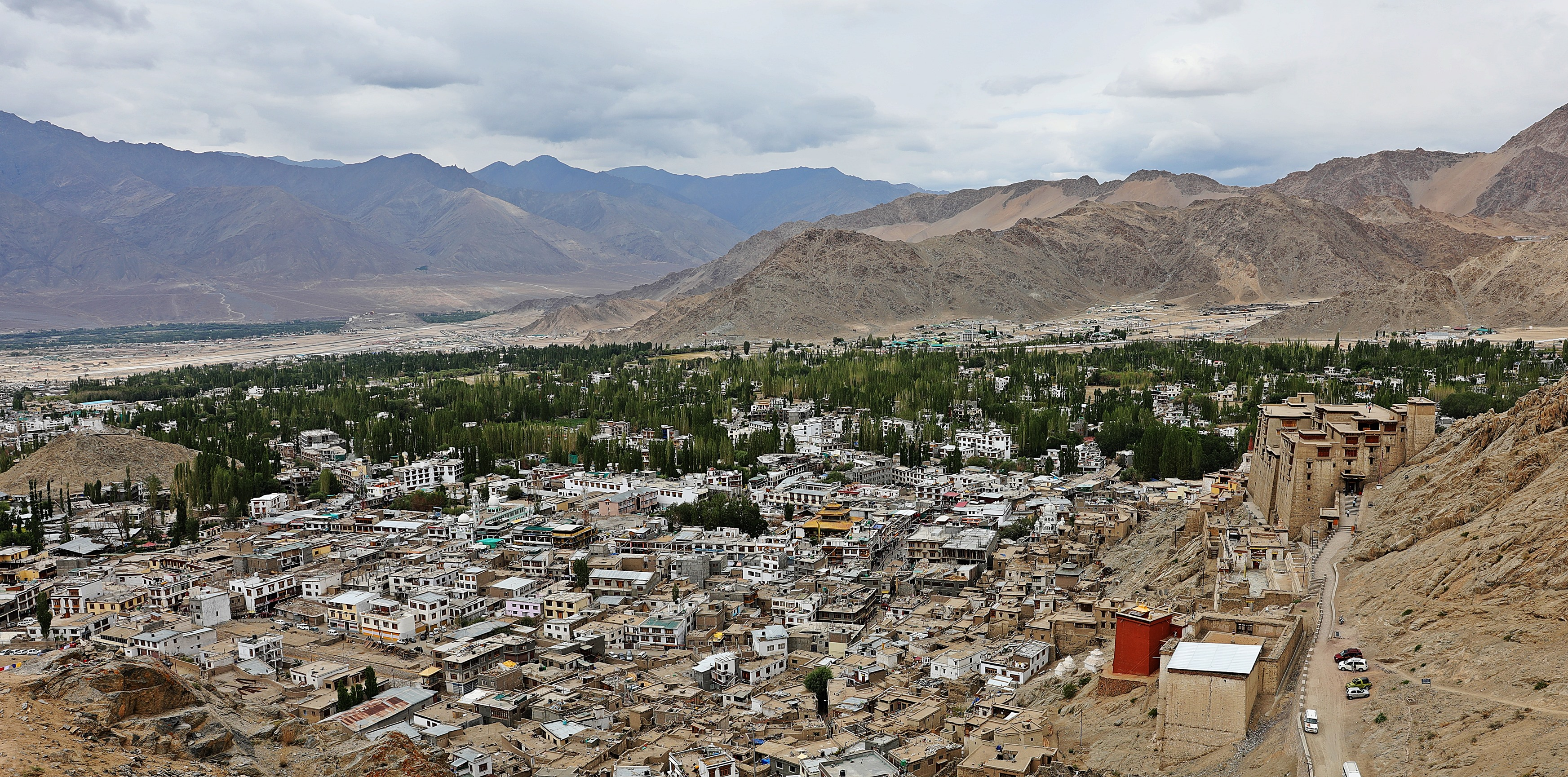 Leh as seen from Tsemo Fort