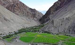 Jinchen River Valley with barley and buckwheat fields