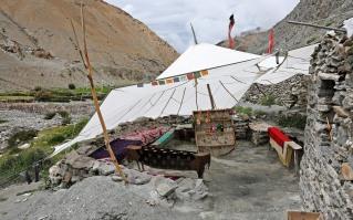 Parachute tent on Markha Valley Trek