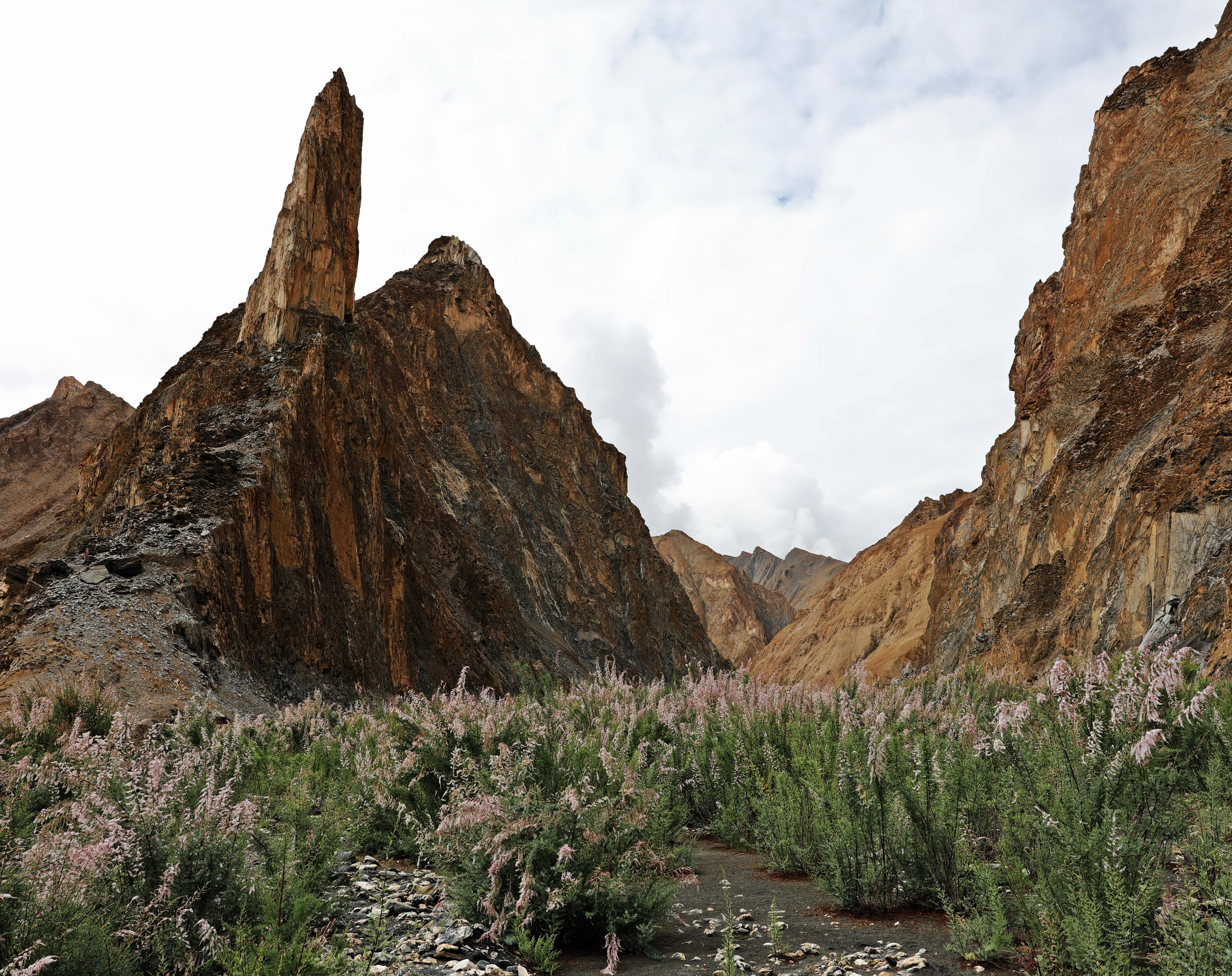 Rock formations in Markha Valley