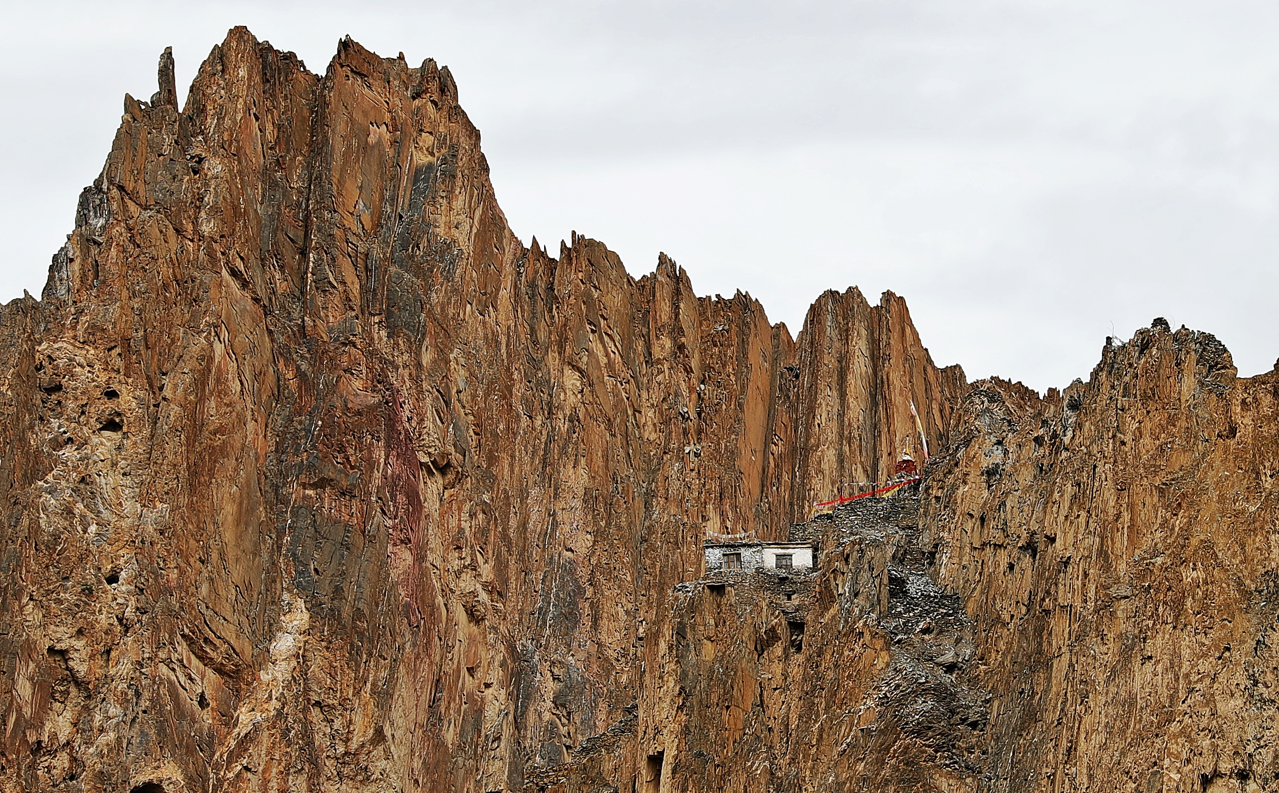 Tacha Gompa up high on a small cliff