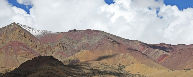 Colourful mountains near Kongmaru La