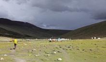 Storm coming near Nimaling camp