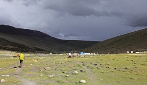 Storm coming near Nimaling camp