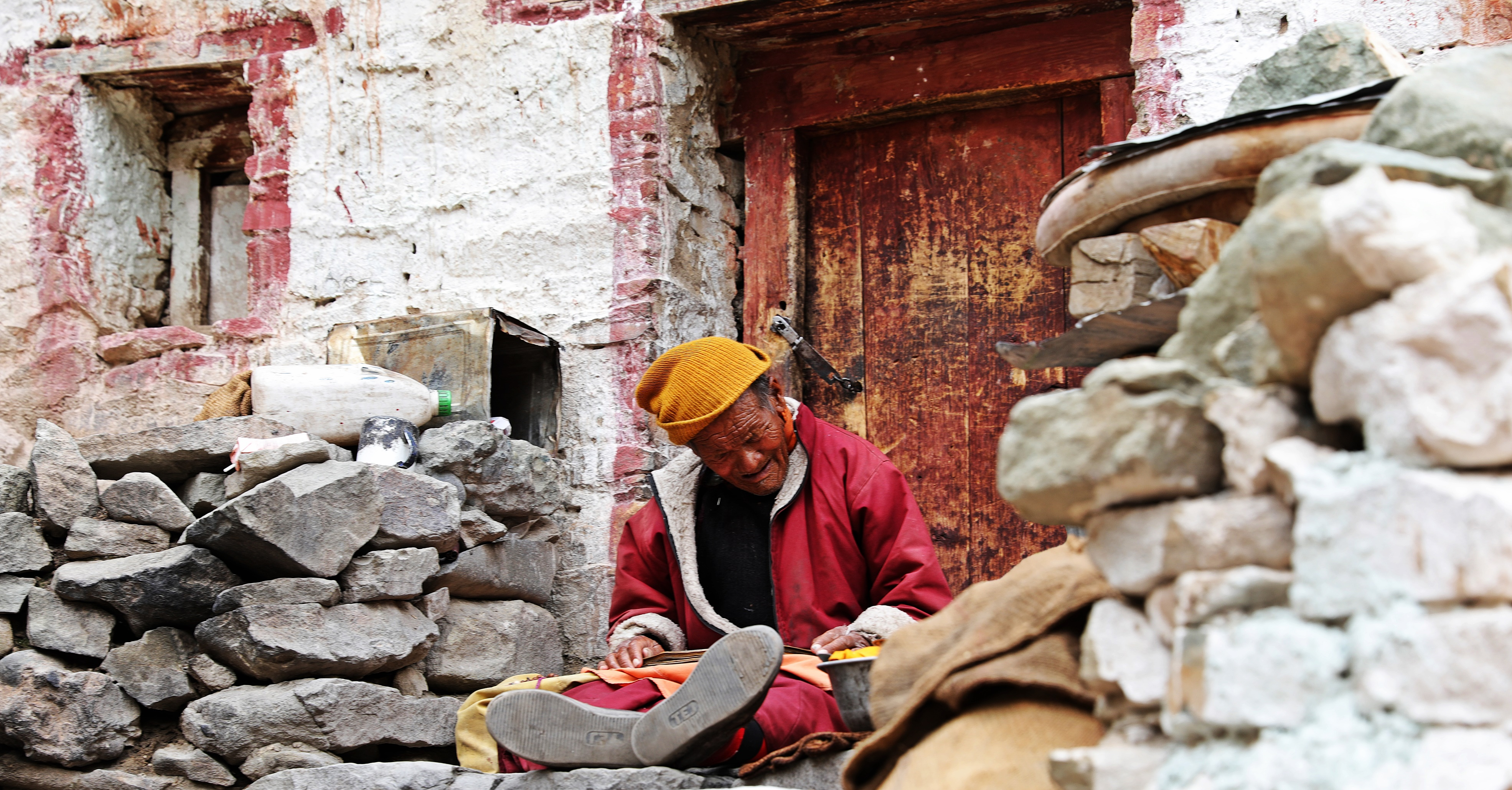 Monk at Hemis Gompa