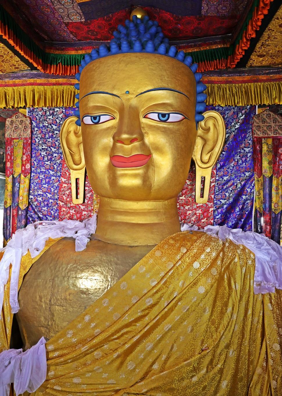 Buddha statue in Shey Palace