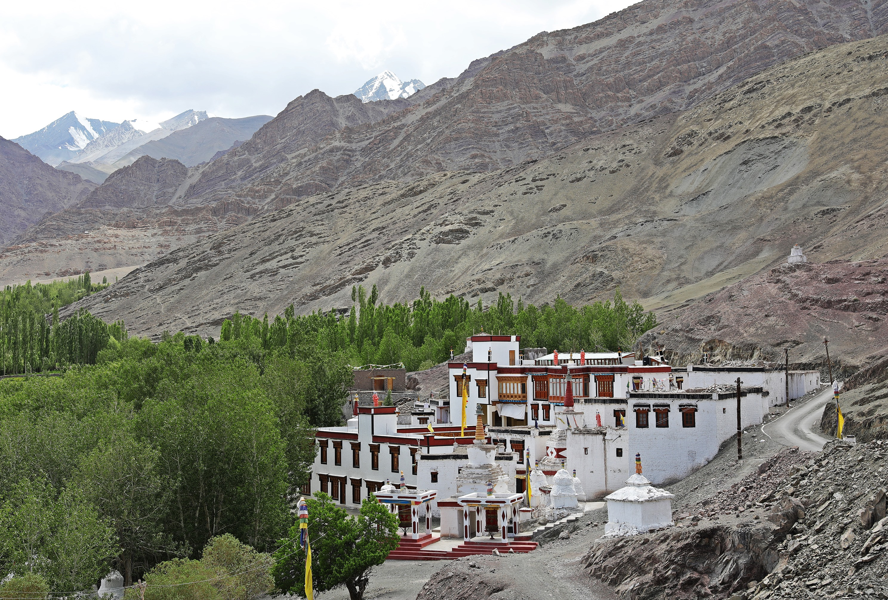 Stok Gompa with Stock Kangri Peak above