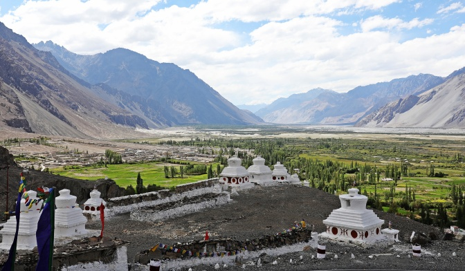 View from Diskit Gompa