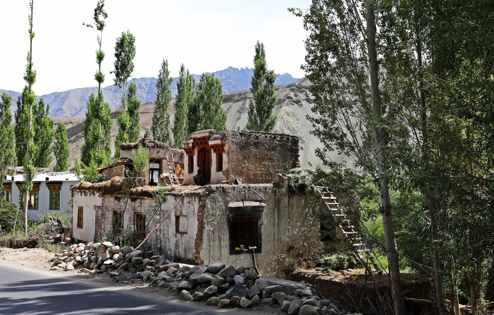 Old buildings in Basgo, Ladakh