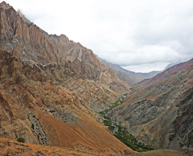 Views from below Dung Dung La