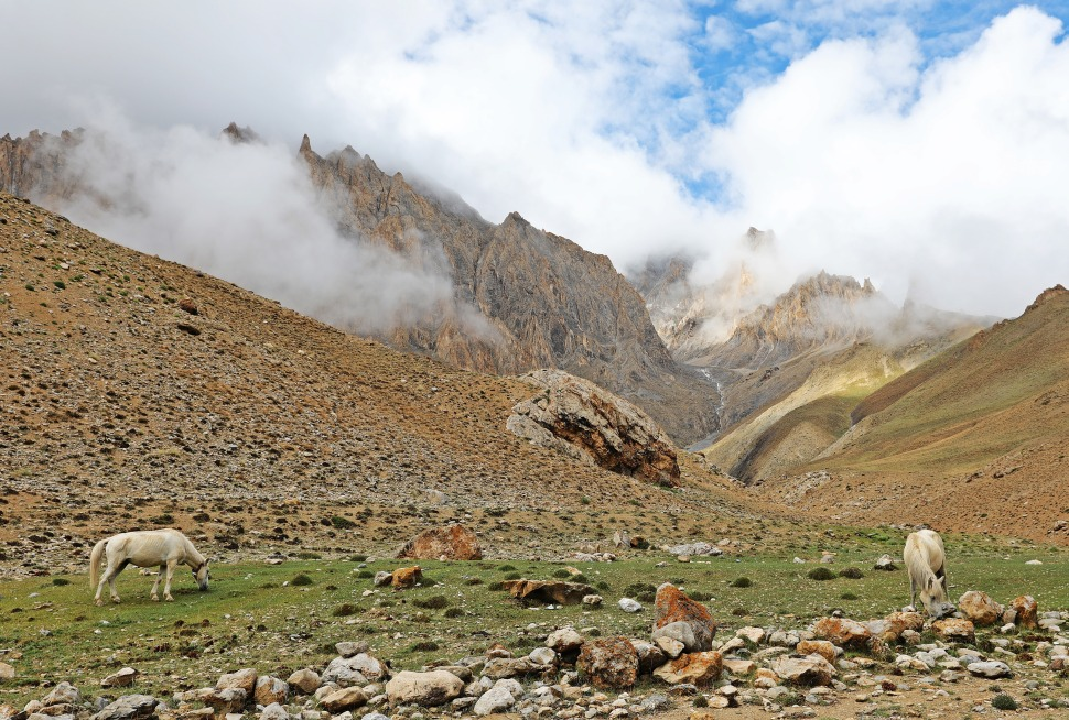 Clouds in the Sumdan Chu Valley