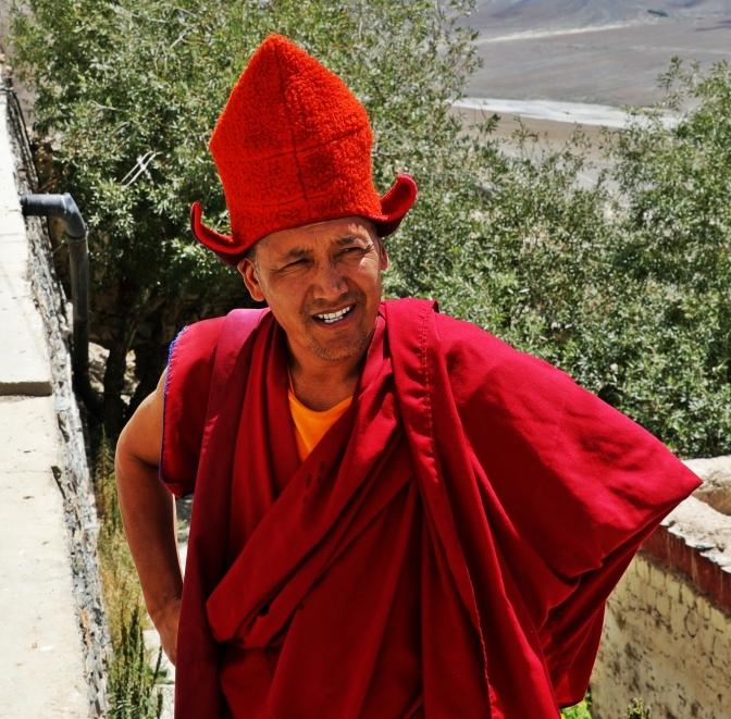 A lama at Karsha Gompa