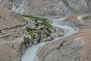 Village of Purney on the trek to Phuktal Gompa