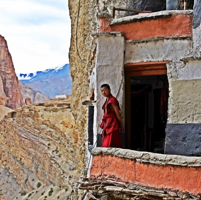 A lama at Phuktal Gompa