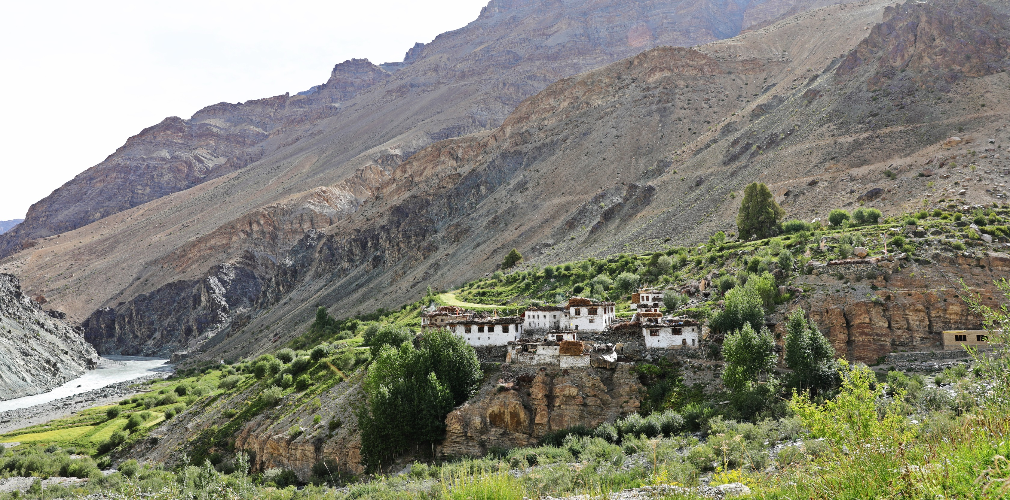 Yugar village across from Phuktal Gompa