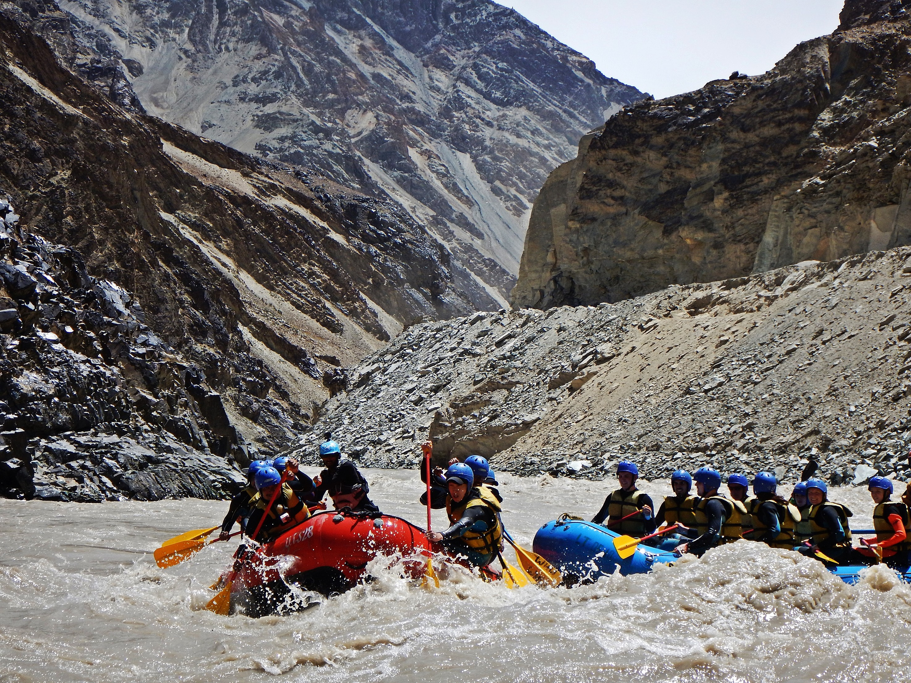 Whitewater rafting on the Zanskar River