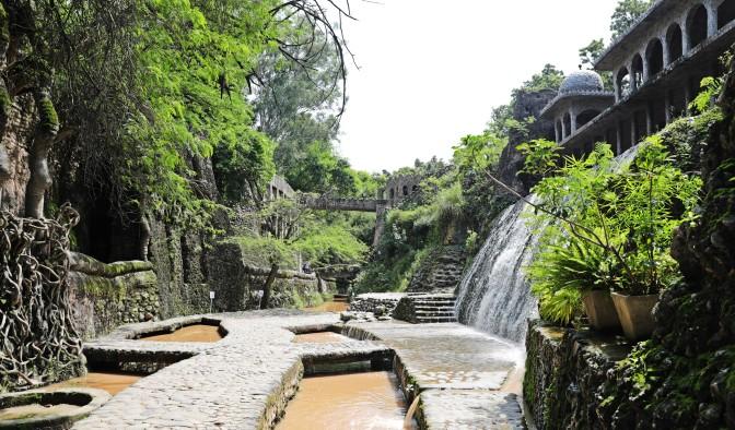 Waterfall sculpture, Rock Garden, Chandigarh