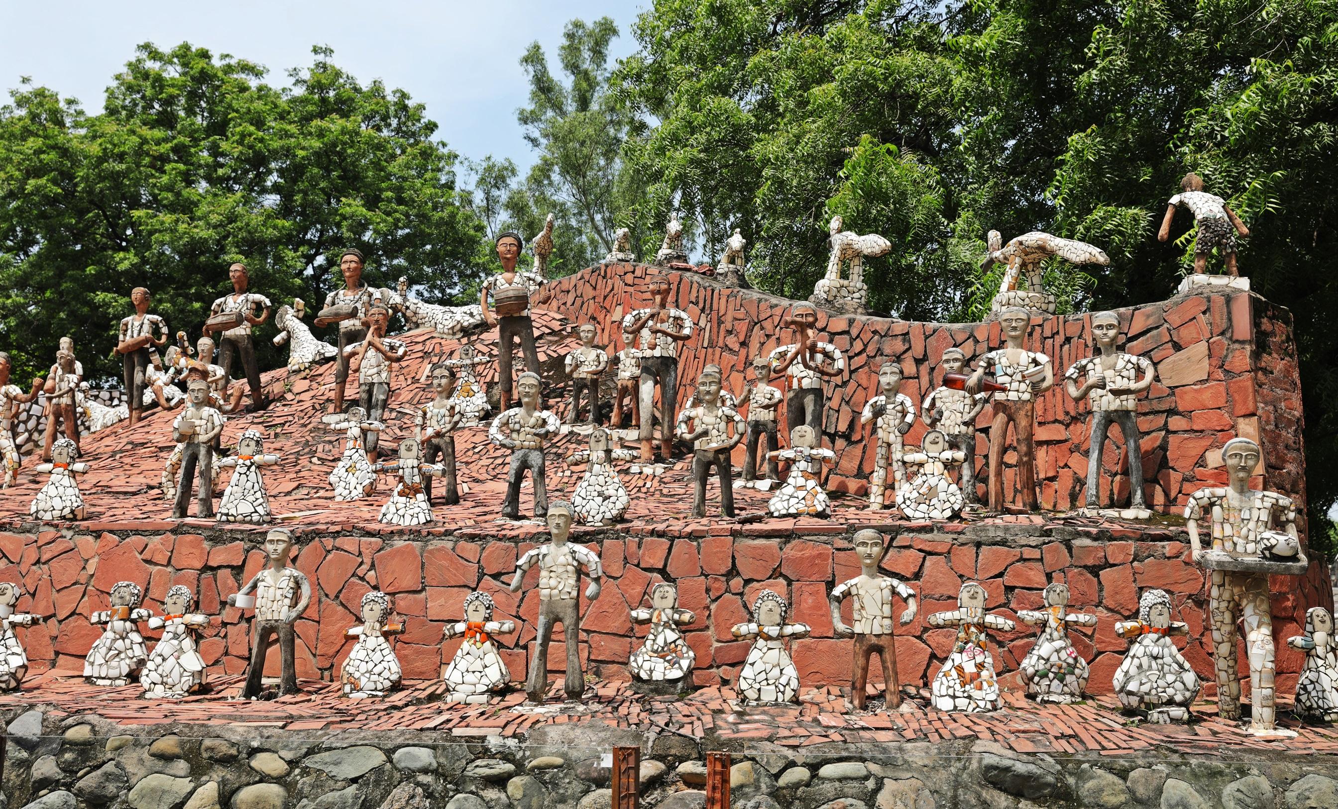 People sculptures, Rock Garden, Chandigarh
